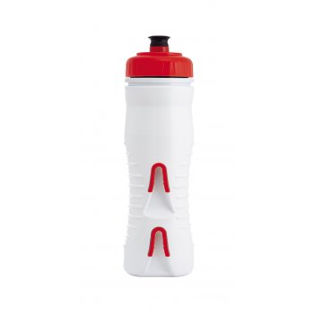 FABRIC LÁHEV 600ml INTERNALLY INSULATED WHITE/RED CAP (FP5307U4560)