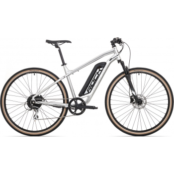 ROCK MACHINE Cross e350 gloss silver/black (500Wh)