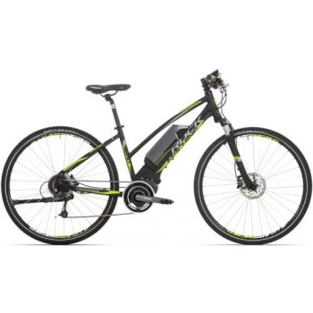 ROCK MACHINE Ebike CrossRide e500 lady black/green/dark silver